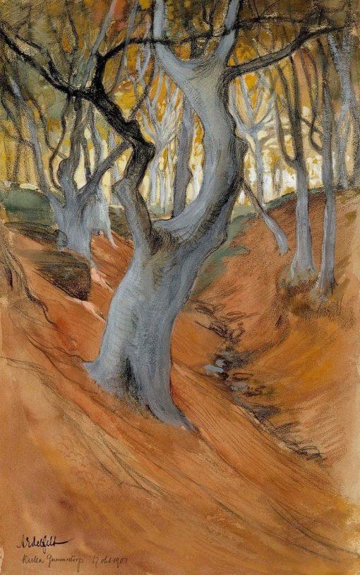 Beech Forest | Albert Edelfelt | Oil Painting