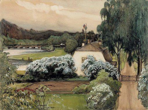 The Foreman's House at the Saari Manor | Albert Edelfelt | Oil Painting