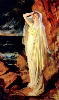 Aino Ackté as Alcestis on the Banks of the Styx | Albert Edelfelt | Oil Painting