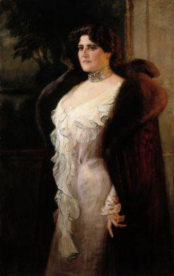 Portrait of Mrs. Lydia Keirkner | Albert Edelfelt | Oil Painting