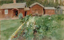 Ukko Karlsson's hut in Haiko | Albert Edelfelt | Oil Painting