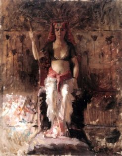 Egyptian queen (academy exercise) | Albert Edelfelt | Oil Painting