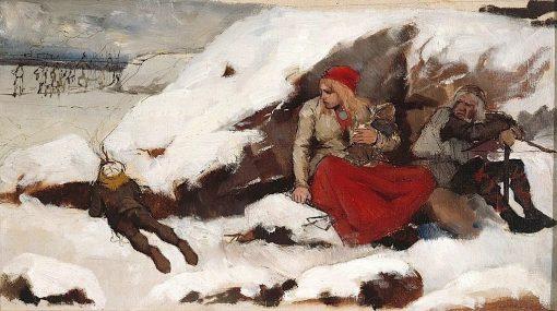 Burned Village (study) | Albert Edelfelt | Oil Painting