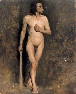 Male Model (academic study) | Albert Edelfelt | Oil Painting