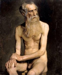 Old Man Seated | Albert Edelfelt | Oil Painting