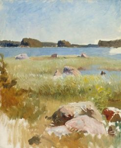 Archipelago landscape (unfinished) | Albert Edelfelt | Oil Painting