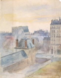 View from the Artist's Studio in Paris | Albert Edelfelt | Oil Painting