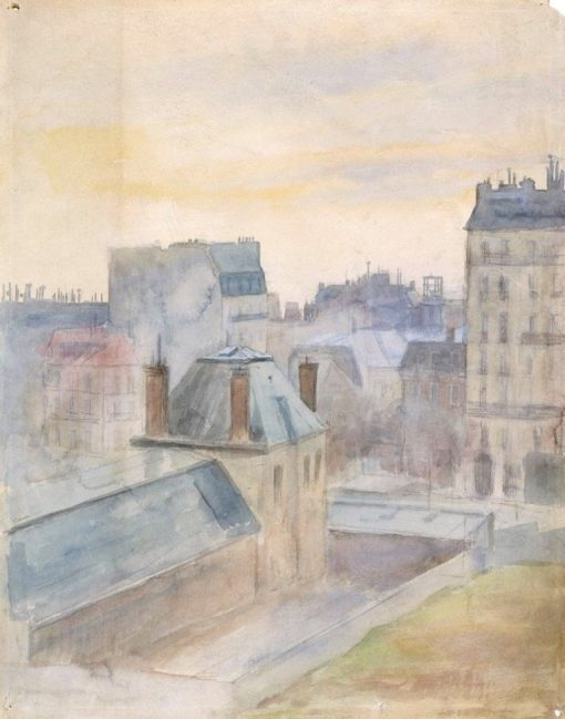 View from the Artist's Studio in Paris | Albert Edelfelt | Oil Painting