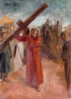 Christ Carries the Cross | Albert Edelfelt | Oil Painting