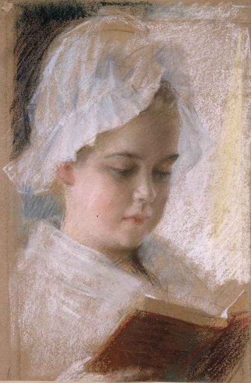 Berta Edelfelt's Portrait (Study)   Albert Edelfelt   Oil Painting