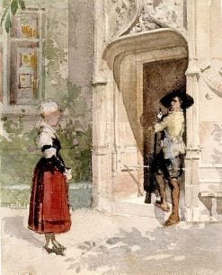 Bertel and Kätchen | Albert Edelfelt | Oil Painting