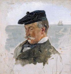 Portrait of Adolf von Becker the Painter | Albert Edelfelt | Oil Painting