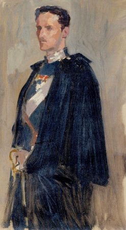 Skecth for the Portrait of Prince Carl | Albert Edelfelt | Oil Painting