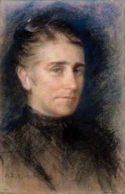 Portrait of Mrs. Emilie Krohn | Albert Edelfelt | Oil Painting