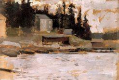 Landscape Sketch from Hamari | Albert Edelfelt | Oil Painting