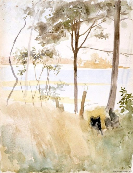 Seashore at Haikko in Autumn | Albert Edelfelt | Oil Painting