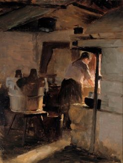 In front of the Stove | Albert Edelfelt | Oil Painting