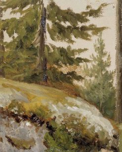 Forest Pike (sketch) | Albert Edelfelt | Oil Painting