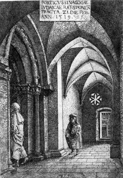 The Entrance Hall of the Regensburg Synagogue | Albrecht Altdorfer | Oil Painting