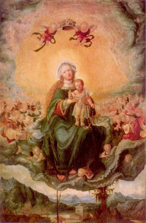 Mary with the Child in Glory   Albrecht Altdorfer   Oil Painting