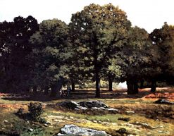 Chestnuts Tree Alley in La Celle-Saint-Cloud | Alfred Sisley | Oil Painting