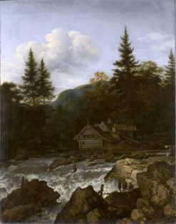 Scandinavian Waterfall with Mill | Allaert van Everdingen | Oil Painting