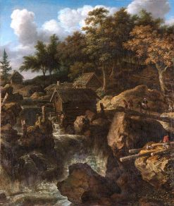 Swedish Landscape with Waterfall | Allaert van Everdingen | Oil Painting