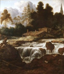 Landscape with a Waterfall | Allaert van Everdingen | Oil Painting