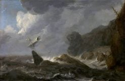 Shipwreck on a Rocky Coast | Allaert van Everdingen | Oil Painting