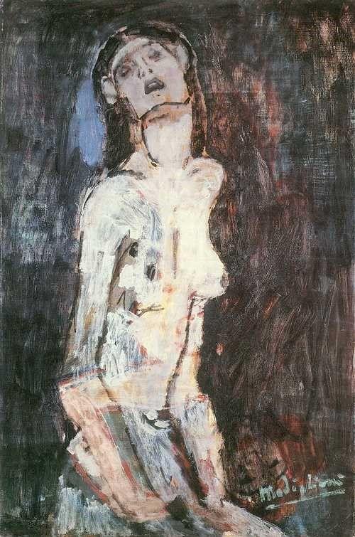 Nude Suffering | Amedeo Modigliani | Oil Painting