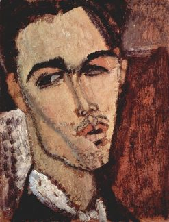Portrait of Celso Lagar | Amedeo Modigliani | Oil Painting