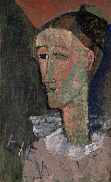 Self-Portrait as Pierrot | Amedeo Modigliani | Oil Painting