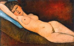 Reclining Nude on a Blue Cushion | Amedeo Modigliani | Oil Painting