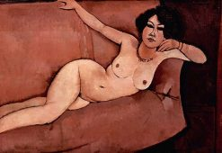 Nude on a Sofa | Amedeo Modigliani | Oil Painting