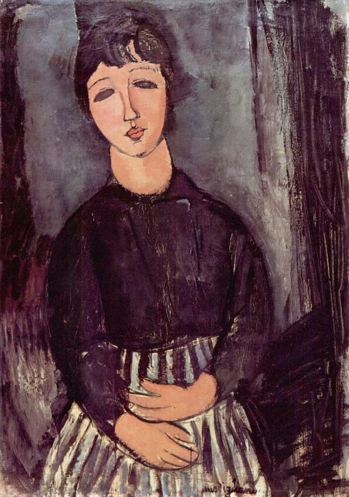 Serving Girl with Striped Apron | Amedeo Modigliani | Oil Painting