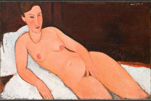 Nude with Coral Necklace | Amedeo Modigliani | Oil Painting