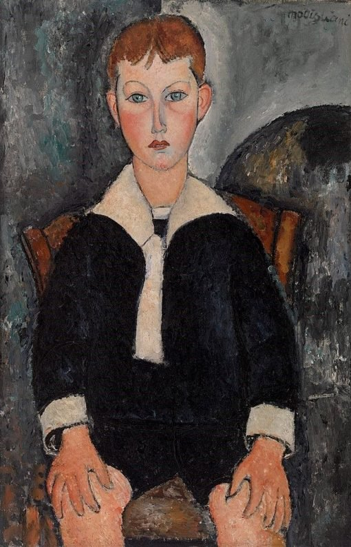 Boy in a Sailor Suit | Amedeo Modigliani | Oil Painting