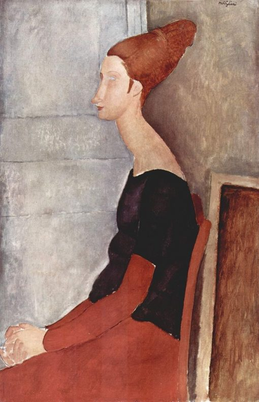 Jeanne Hébuterne Seated in Profile | Amedeo Modigliani | Oil Painting