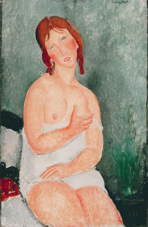 Young Woman in a Shirt | Amedeo Modigliani | Oil Painting