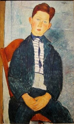 Boy in a Striped Sweater | Amedeo Modigliani | Oil Painting