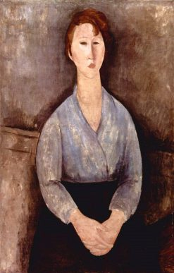 Seated Woman in a Blue Blouse | Amedeo Modigliani | Oil Painting