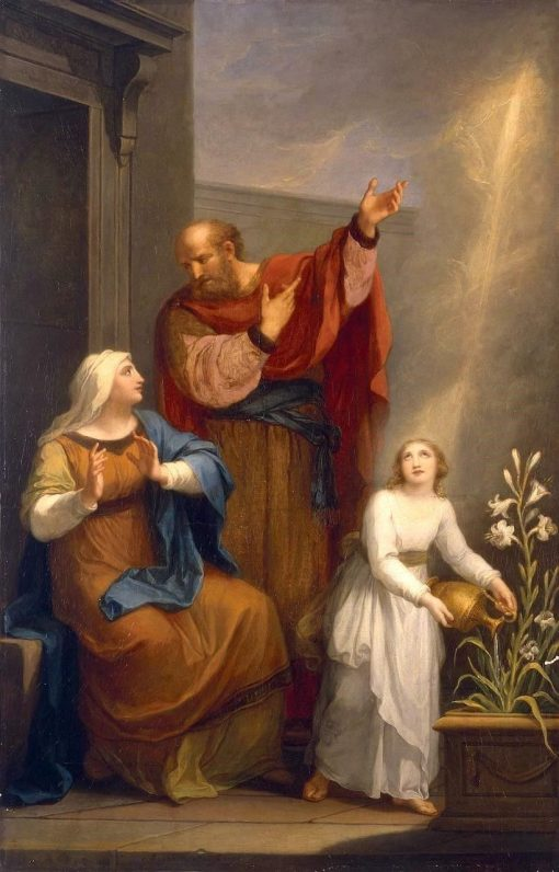 Childhood of the Virgin Mary | Anna Dorothea Therbusch | Oil Painting