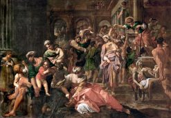 San Rocco Giving Alms to the Poor | Annibale Carracci | Oil Painting
