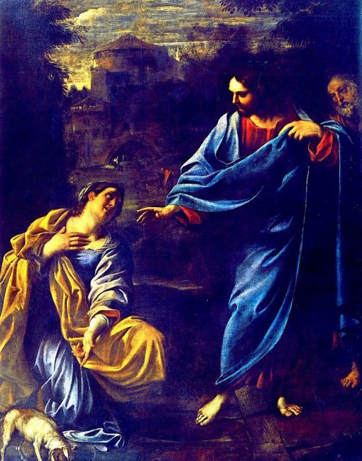 Christ and Canaanite woman | Annibale Carracci | Oil Painting