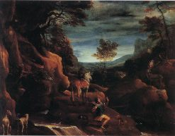 The Vision of Saint Eustace   Annibale Carracci   Oil Painting