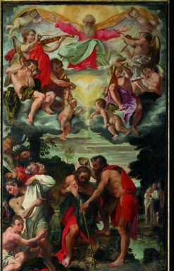 The Baptism of Christ | Annibale Carracci | Oil Painting