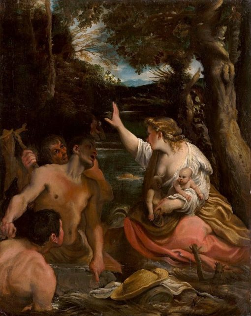 Leto Protects Her Children | Annibale Carracci | Oil Painting