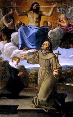 San Diego di Alcalà presenta il figlio di Juan de Herrera a Gesù | Annibale Carracci | Oil Painting