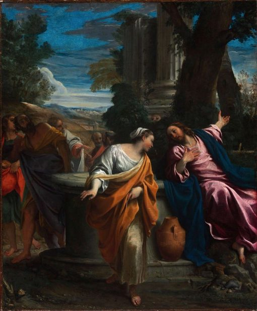 Christ and the Samaritan Woman | Annibale Carracci | Oil Painting