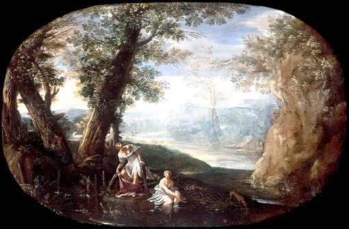 Landscape with Bathing Women | Annibale Carracci | Oil Painting